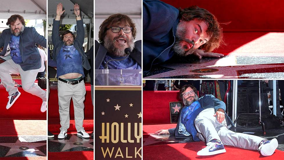 Videoartikkeli, Jack Black Hollywood Walk of Famella 18. syyskuuta 2018.