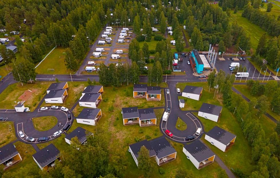 Nallikarin leirintäalue Oulussa.