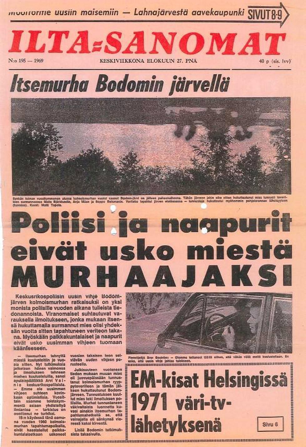 Ilta-Sanomat 27.8.1969.