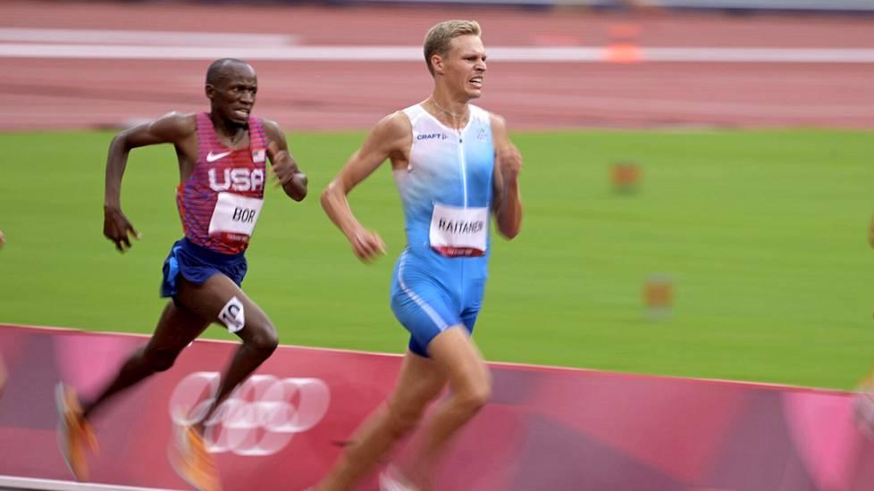 Harvinaista herkkua: Suomalainen nähdään olympialaisten kestävyysjuoksun finaalissa, kun Topi Raitanen venyi omassa alkuerässään toiseksi.