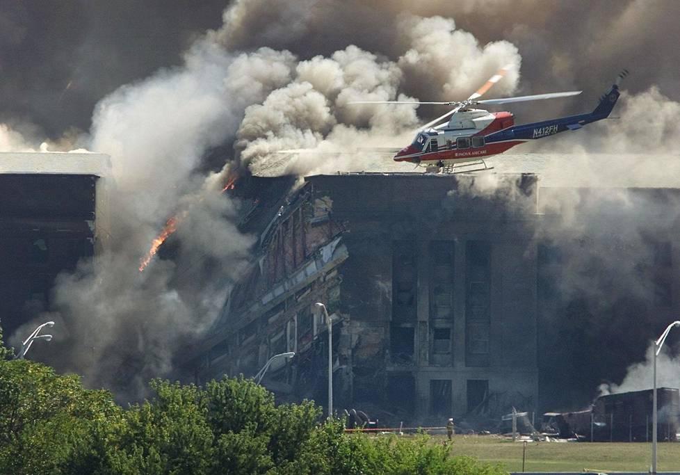 Osama bin Ladenin joukot iskivät 11. syyskuuta 2001 myös Yhdysvaltain puolustusministeriöön Pentagoniin.