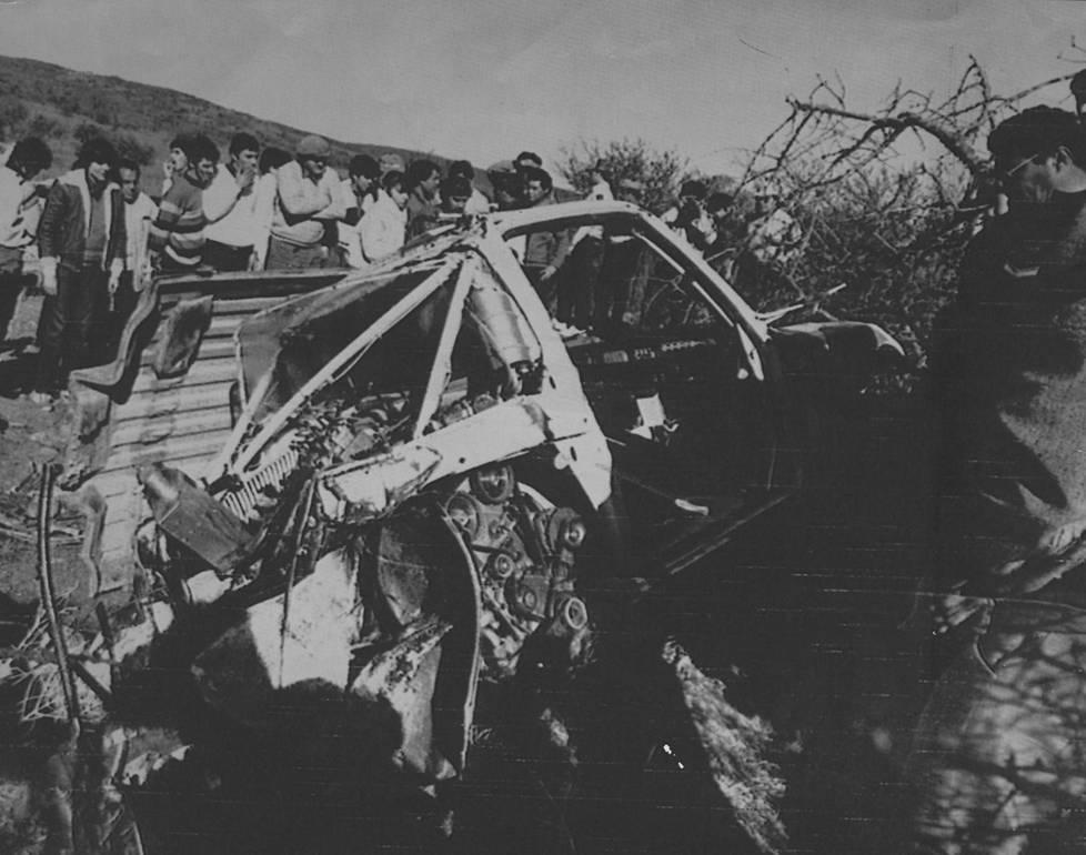 Ari Vatasen kohtalon hetket vuonna 1985. Toipuminen tällistä kesti vuoden.