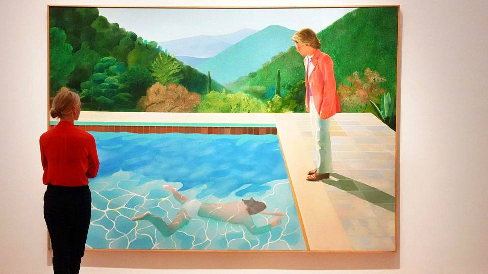 Videoartikkeli, Portrait of an Artist (Pool with Two Figures) myytiin Christie'sin huutokaupassa New Yorkissa torstaina.