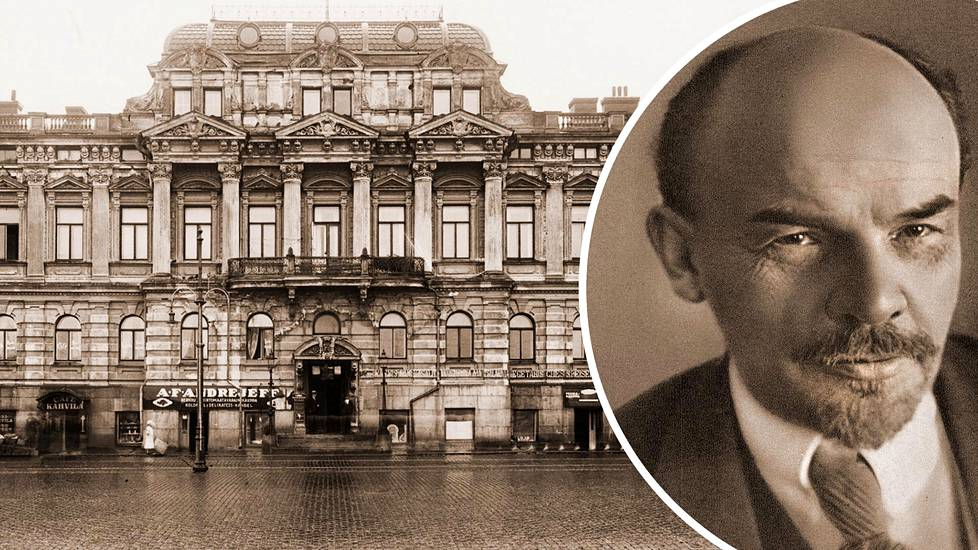 Helsingin Esplanadilla sijainnut Venäjän valtionpankin konttori ryöstettiin verisesti 1906. Nyt talossa on Ruotsin suurlähetystö. V. I. Lenin todennäköisesti hyväksyi ryöstösuunnitelman Helsingissä.