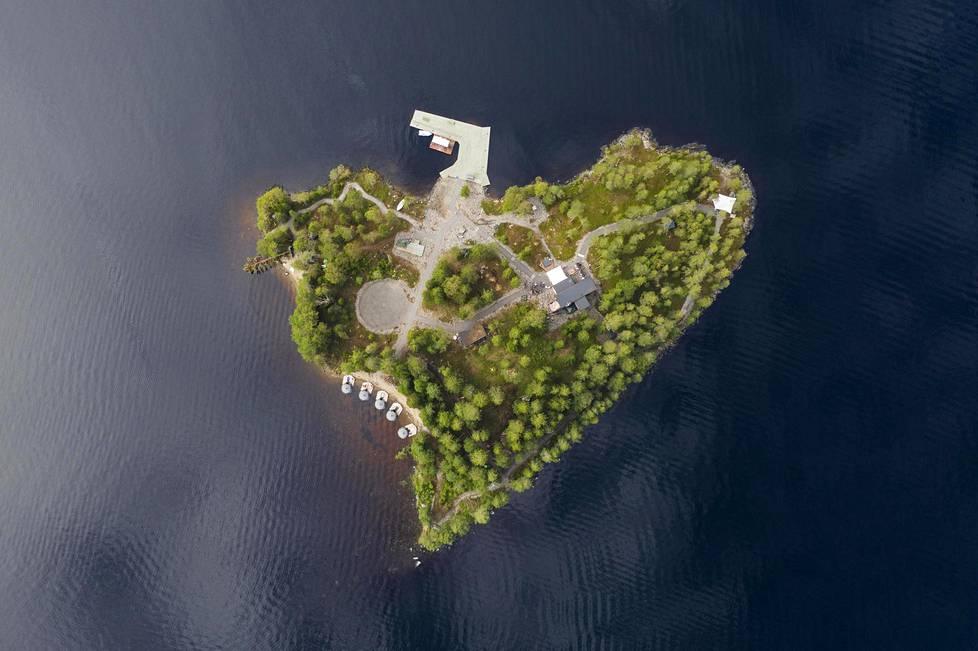 Temptation Islandiksi muuttunut Aateli Island yläilmoista.