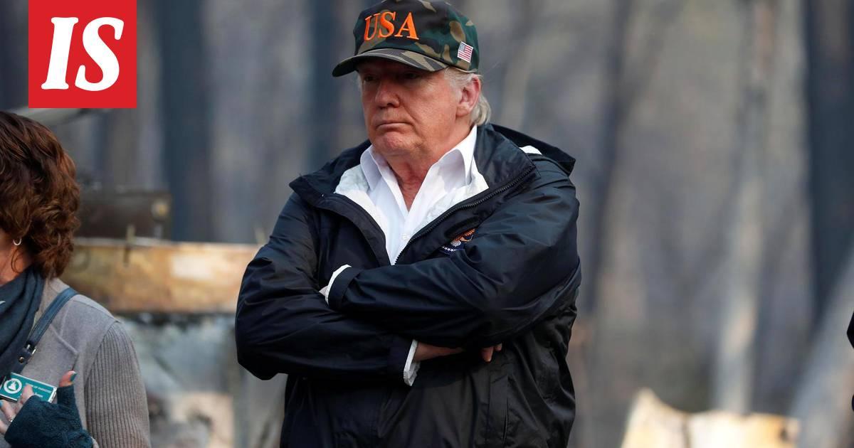 """Trump kehui Suomen metsänhoitoa vieraillessaan Kalifornian maastopalojen tuhoalueella: """"He käyttävät paljon aikaa haravointiin"""""""
