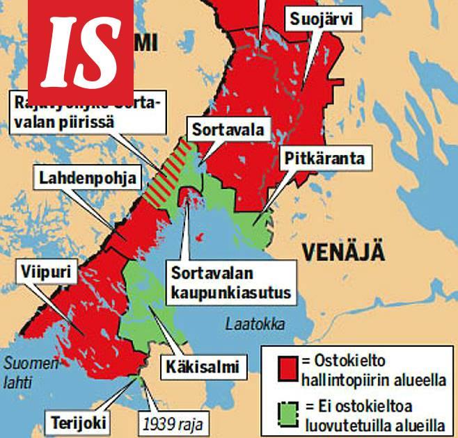 Nain Venaja Rajoittaa Tonttikauppaa Katso Kartta Ulkomaat