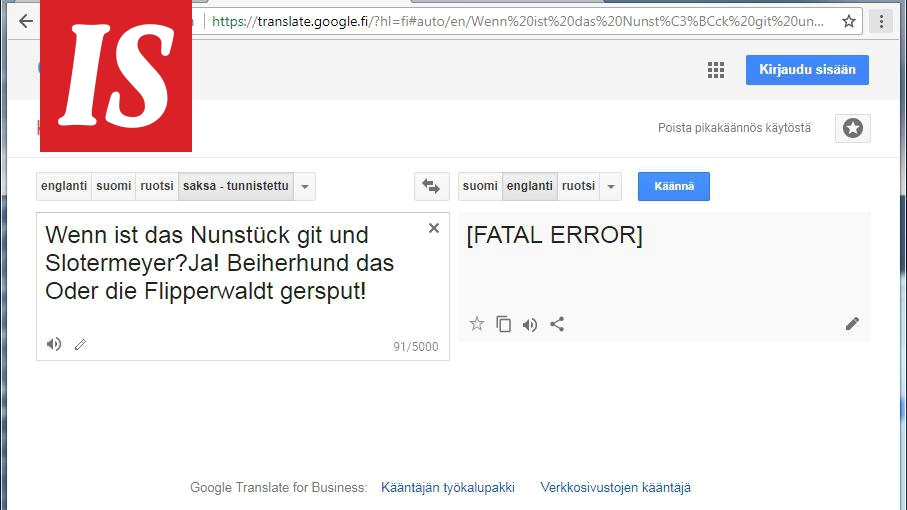Google Kääntäjää