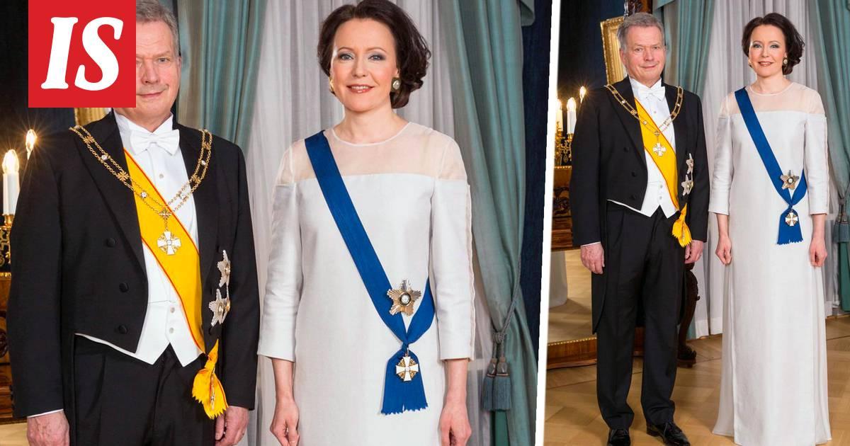 Tällainen on rouva Jenni Haukion vitivalkoinen puku – kangas valmistettu  koivusta - Linnan juhlat - Ilta-Sanomat e1585539dd