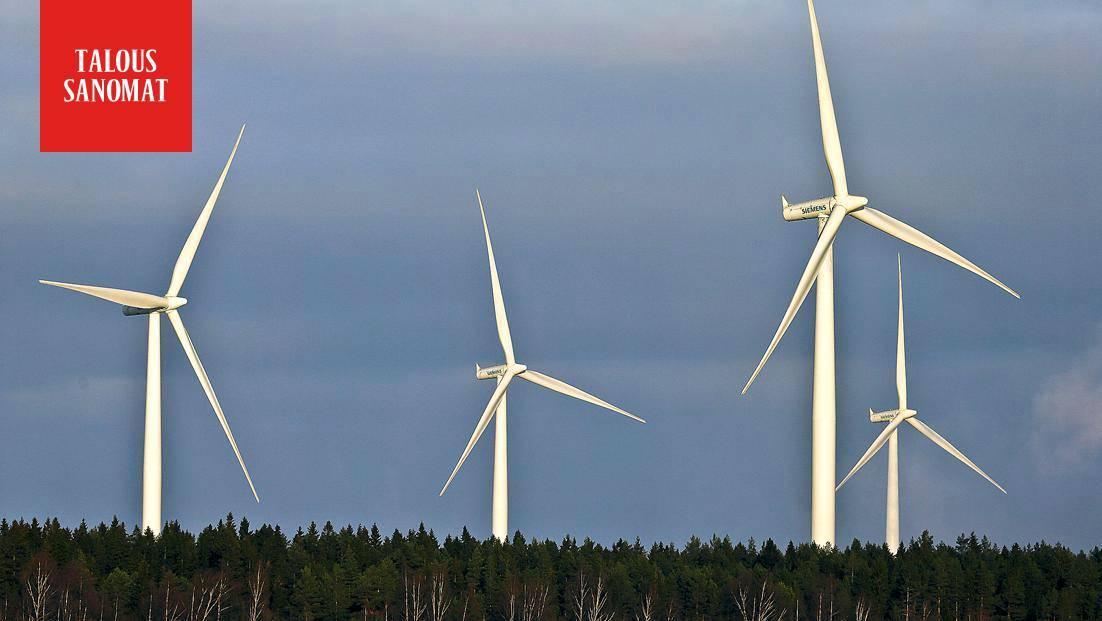 Historiallinen hetki: sähkön hinta painui tuntien ajaksi miinukselle kovan tuulen vuoksi