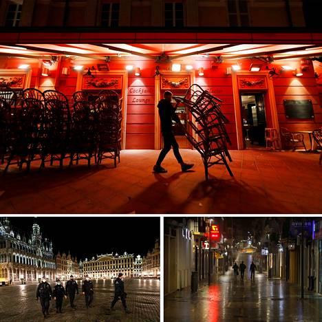Kadut tyhjenevät nyt iltaisin ympäri Eurooppaa, sillä monin paikoin on voimassa illan ja yön ulkonaliikkumiskielto.